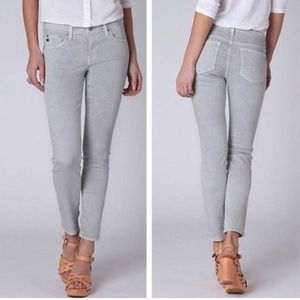 AG Stevie Polka Dot Ankle Jeans